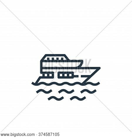 yacht icon isolated on white background from travel collection. yacht icon trendy and modern yacht s