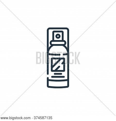 hair spray icon isolated on white background from hairdressing and barber shop collection. hair spra