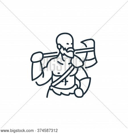 barbarian icon isolated on white background from roleplaying avatars collection. barbarian icon tren