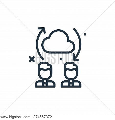 transfer icon isolated on white background from work from home collection. transfer icon trendy and