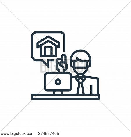 working at home icon isolated on white background from coronavirus collection. working at home icon