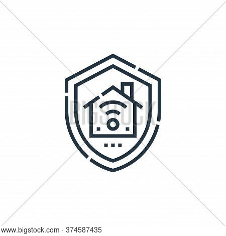 home insurance icon isolated on white background from smarthome collection. home insurance icon tren