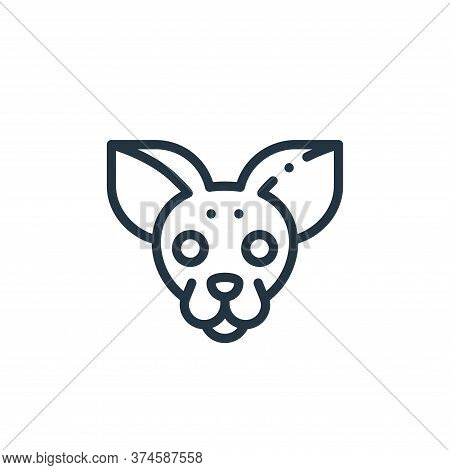 Chihuahua icon isolated on white background from mexico collection. Chihuahua icon trendy and modern