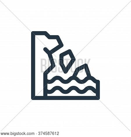 iceberg icon isolated on white background from climate change collection. iceberg icon trendy and mo