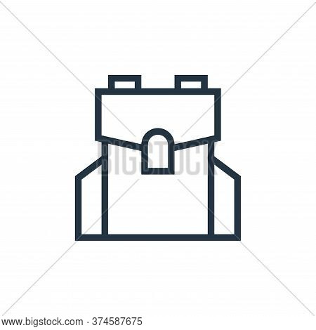 bag icon isolated on white background from education collection. bag icon trendy and modern bag symb