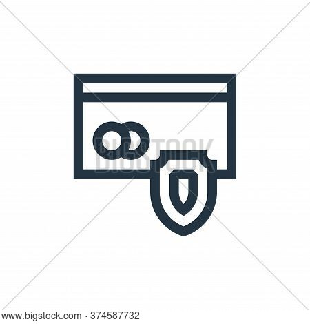 secure payment icon isolated on white background from payment collection. secure payment icon trendy