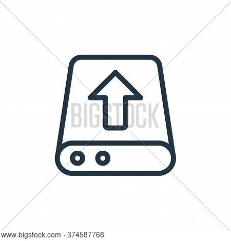 upload icon isolated on white background from work office server collection. upload icon trendy and