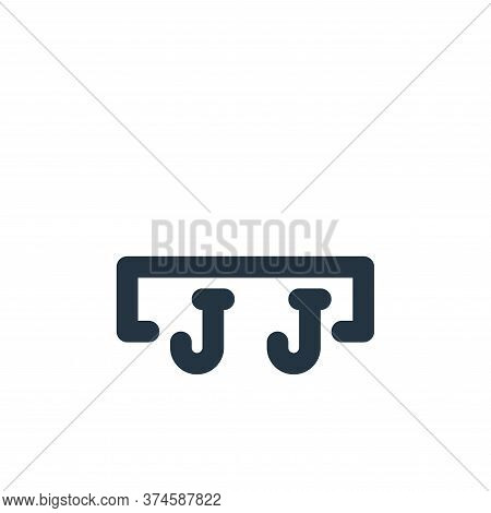 cloth hook icon isolated on white background from bathroom collection. cloth hook icon trendy and mo