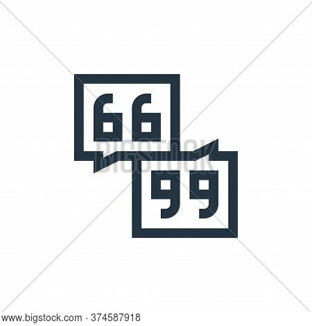 quotation marks icon isolated on white background from feedback and testimonials collection. quotati