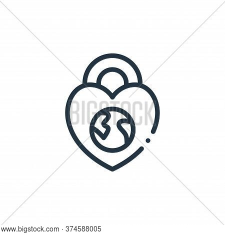 protection icon isolated on white background from world love collection. protection icon trendy and