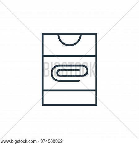 paper clip icon isolated on white background from stationery collection. paper clip icon trendy and