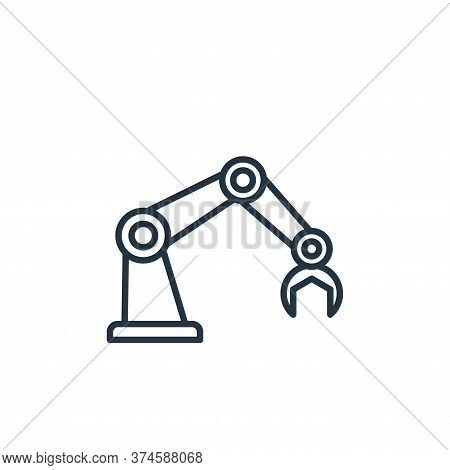 robot arm icon isolated on white background from robotics collection. robot arm icon trendy and mode