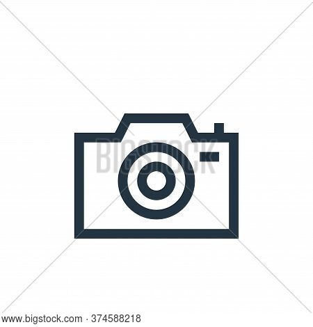 camera icon isolated on white background from web essentials collection. camera icon trendy and mode