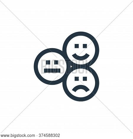 review icon isolated on white background from feedback and testimonials collection. review icon tren