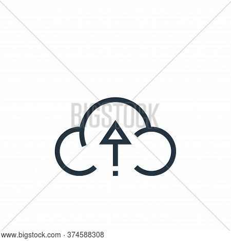 cloud upload icon isolated on white background from web essentials collection. cloud upload icon tre