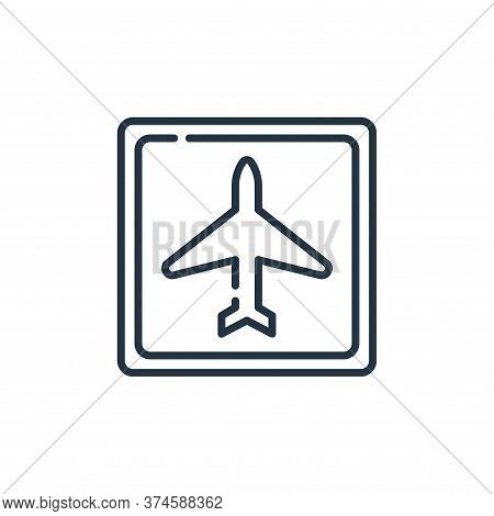 airport icon isolated on white background from signals and prohibitions collection. airport icon tre