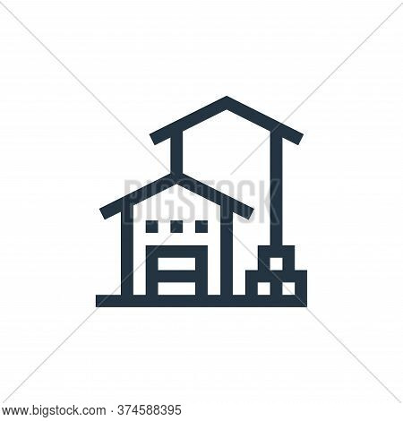 storehouse icon isolated on white background from manufacturing collection. storehouse icon trendy a