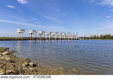 The Blue Sky At Uthokawiphatprasit Watergate, Pak Phanang, Nakhon Si Thammarat Diversion Dam Project