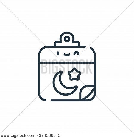 calendar icon isolated on white background from ramadan collection. calendar icon trendy and modern