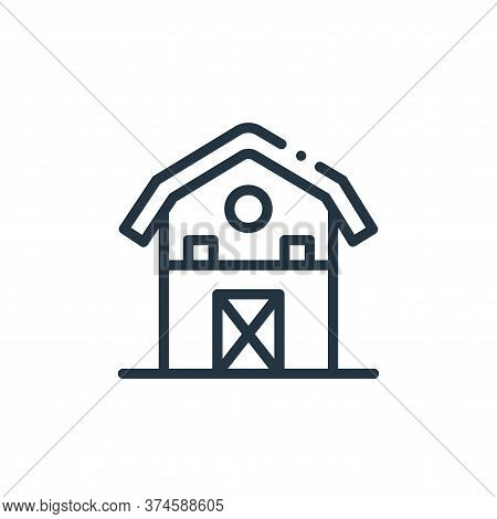 barn icon isolated on white background from in the village collection. barn icon trendy and modern b