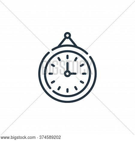 clock icon isolated on white background from hygiene routine collection. clock icon trendy and moder