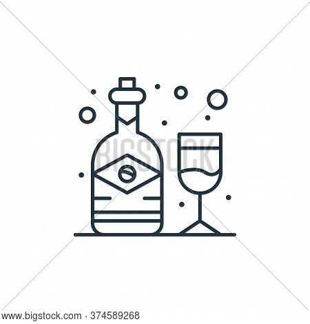 alcohol icon isolated on white background from brazilian carnival collection. alcohol icon trendy an