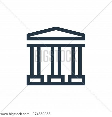 bank icon isolated on white background from payment collection. bank icon trendy and modern bank sym