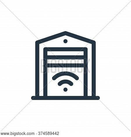 smart garage icon isolated on white background from internet of things collection. smart garage icon