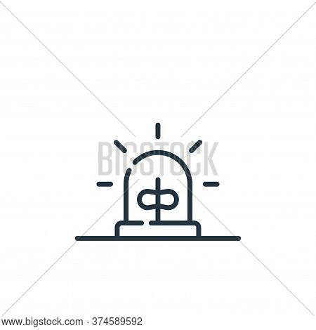 alarm icon isolated on white background from hacker collection. alarm icon trendy and modern alarm s