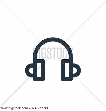 headphones icon isolated on white background from user interface collection. headphones icon trendy