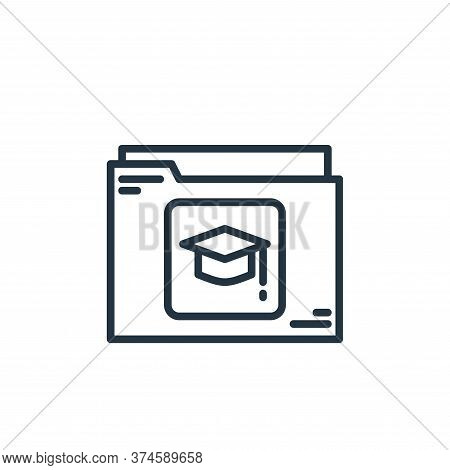 folder icon isolated on white background from elearning collection. folder icon trendy and modern fo