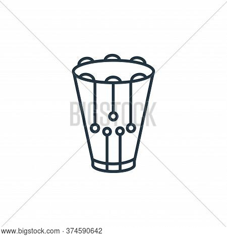 snare drum icon isolated on white background from music instruments collection. snare drum icon tren