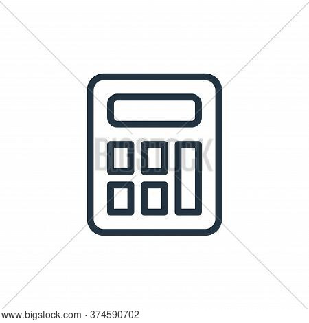 calculator icon isolated on white background from work office supply collection. calculator icon tre