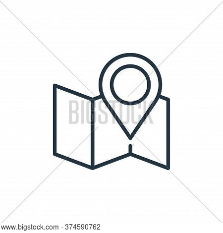 map location icon isolated on white background from ecommerce collection. map location icon trendy a