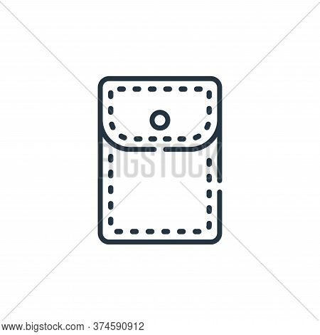 pocket icon isolated on white background from sewing collection. pocket icon trendy and modern pocke