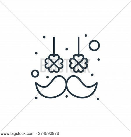 moustache icon isolated on white background from saint patrick collection. moustache icon trendy and