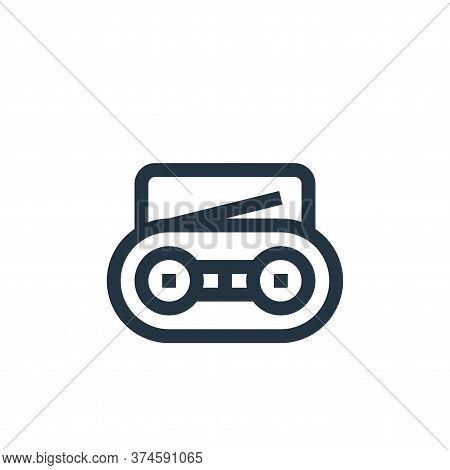 radio icon isolated on white background from news collection. radio icon trendy and modern radio sym