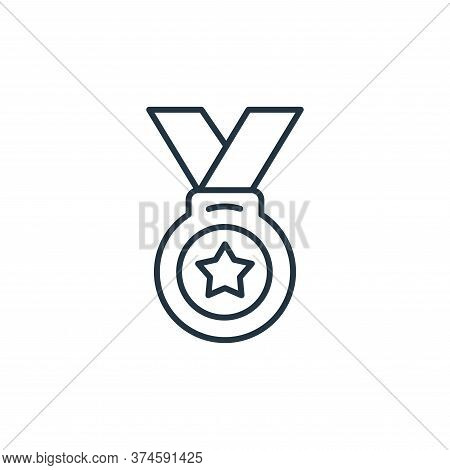 medal icon isolated on white background from leadership collection. medal icon trendy and modern med