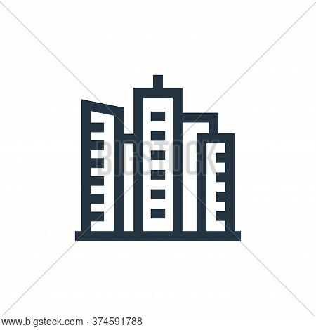 buildings icon isolated on white background from united states of america collection. buildings icon