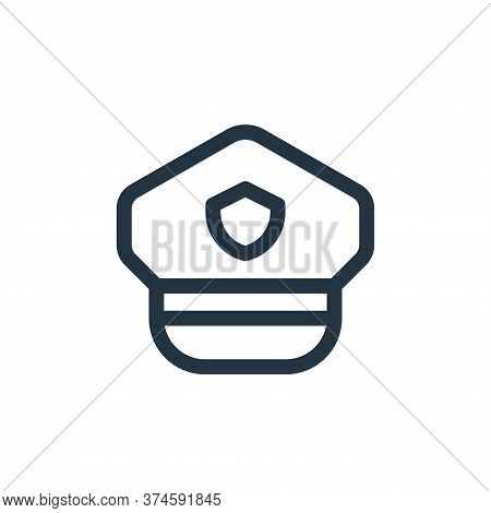 police hat icon isolated on white background from emergencies collection. police hat icon trendy and