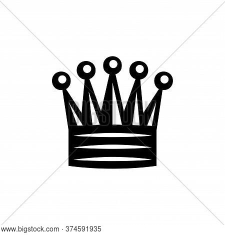 Queen Icon Of Chess Icon On White Background. Flat Style. Queen Icon For Your Web Site Design, Logo,