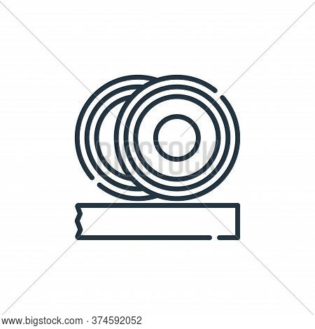 insulation icon isolated on white background from electrician tools and elements collection. insulat