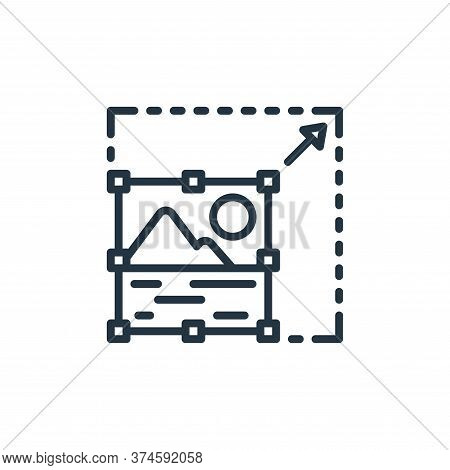 photo editing icon isolated on white background from graphic design collection. photo editing icon t