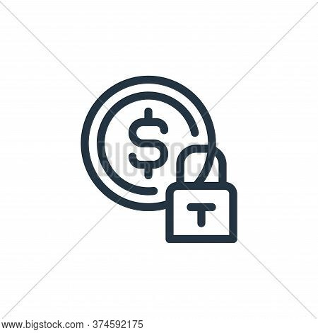 security icon isolated on white background from ecommerce collection. security icon trendy and moder