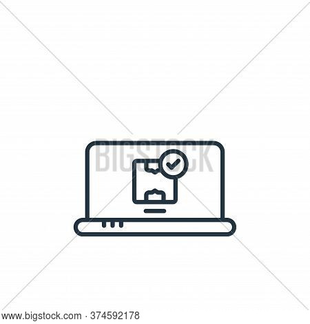 laptop icon isolated on white background from shipping and delivery collection. laptop icon trendy a