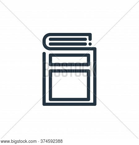 book icon isolated on white background from ricon collection. book icon trendy and modern book symbo