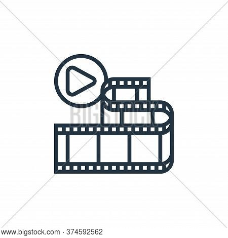 movie frame icon isolated on white background from cinema collection. movie frame icon trendy and mo