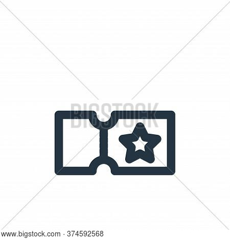 ticket icon isolated on white background from marketing business collection. ticket icon trendy and