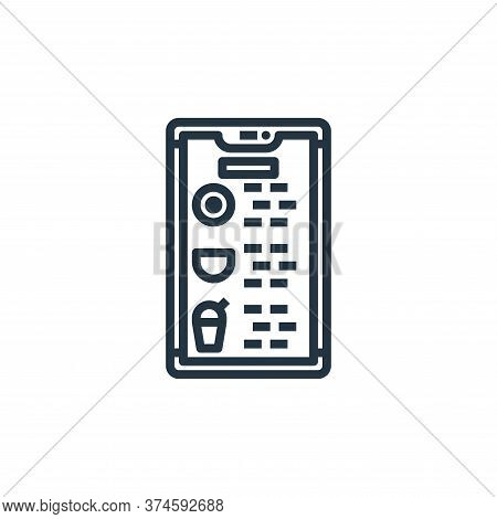 application icon isolated on white background from food delivery collection. application icon trendy