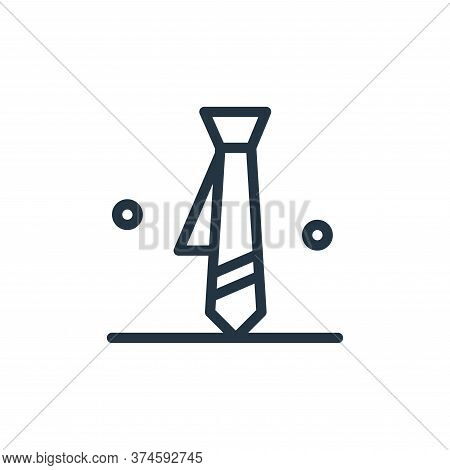 tie icon isolated on white background from business collection. tie icon trendy and modern tie symbo